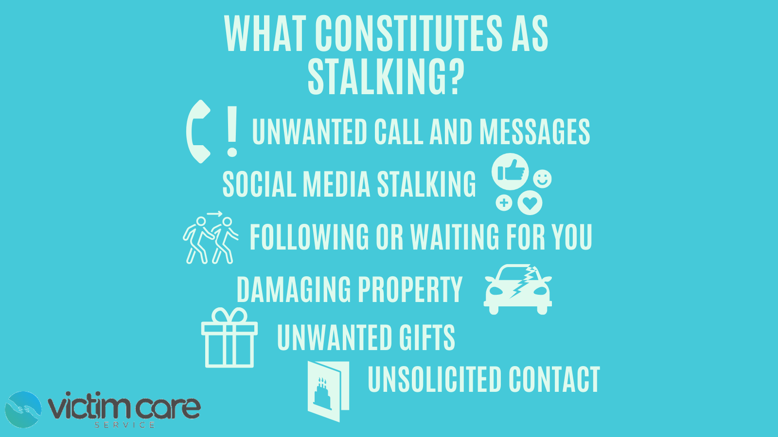 A definition of what forms stalking cantakde